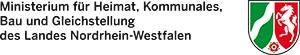 Ministerium für Heimat, Kommunales, Bau und Gleichstellung des Landes Nordrhein Westfalen Logo