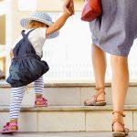 Mutter mit Kind auf dem Weg in die Kita. Ab wann kann ich mein Kind in die Betreuung geben?